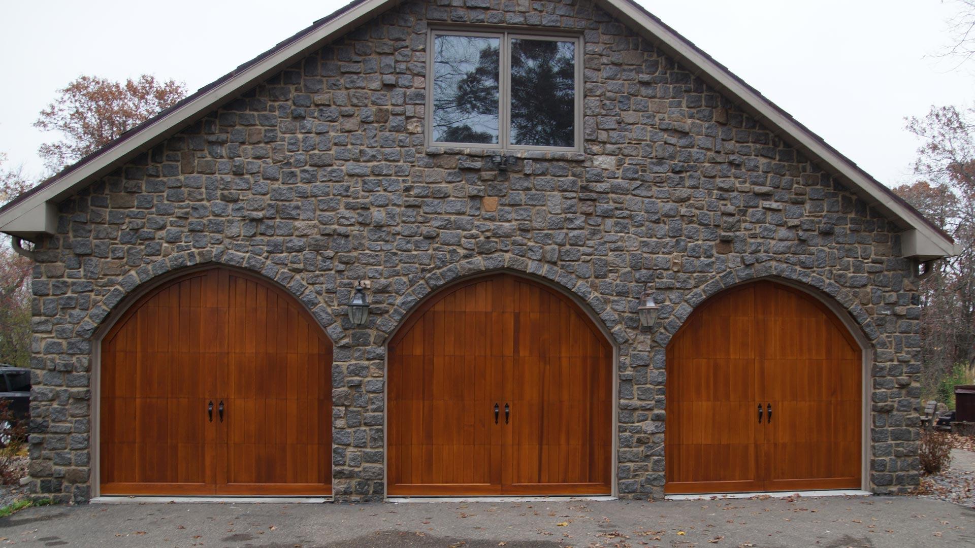 Residential 08 Wood Door Action Overhead Garage Door